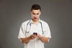 Surprising text message Stock Photos