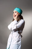 Surprising young female doctor Royalty Free Stock Photos