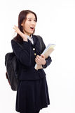 Surprising young pretty Asian student Stock Photos