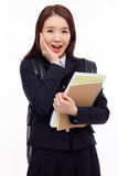 Surprising young pretty Asian student Royalty Free Stock Photo