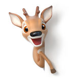 Surprized little cartoon deer Royalty Free Stock Photography
