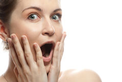 Surprized woman Stock Image