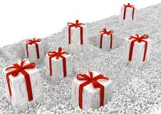 Surréaliste de cadeaux déchiqueté Photos libres de droits