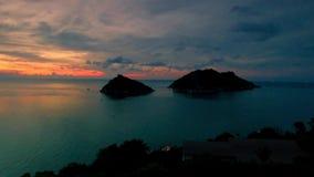 surr 4K; Koh Nang Yuan från Koh Tao, Thailand arkivfilmer