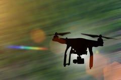 Surr med flyg för kamera 4K Arkivbilder