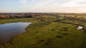 Surra skottet av en sjö i Leicester-grevskapet bygd Royaltyfria Bilder