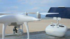 Surranseende, innan att flyga på stranden 4K lager videofilmer