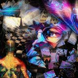 Consciousness. Surreal art. Artist consciousness. Human elements were created with 3D software and are not from any actual human likenesses vector illustration