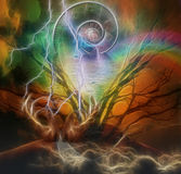 Surreal artisitc image and time spiral Royalty Free Stock Photography