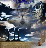 Surreal Artistic Montage Stock Images