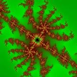 Surreal background / fractal green orange spider Royalty Free Stock Images