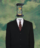 Surreal Business Suit, Time, Hourglass Stock Photography