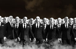 Surreal Businessmen Team Crowd Stock Image