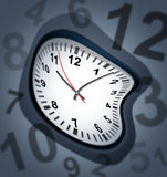 Surreal clock as time symbol Stock Image