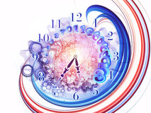 Surreal clock concept Stock Photography