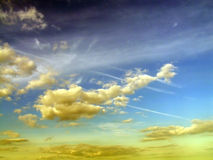Surreal cloudscape Stock Photos