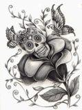 Surreal dag van de schedelkunst van de doden Royalty-vrije Stock Afbeelding