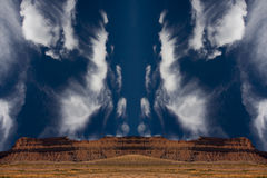Surreal Desert. With clouds in shape of horse head Royalty Free Stock Images