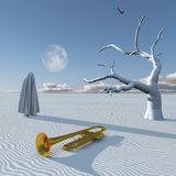 Surreal desert Stock Photography