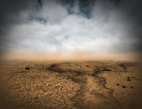 Surreal Desolate Desert Landscape Background. Abstract Concept of a surreal desolate desert landscape. Designers looking for a nature scene with surrealism may Royalty Free Stock Image