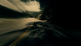 Surreal Dreamlike Hyper Driving POV. A stylized time lapse of driving POV with distortion and motion blur stock footage