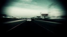 Surreal Driving Down Highway Travel stock video footage