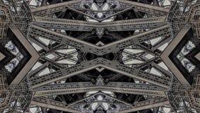 Surreal effect van de structuren van de metaalbrug vector illustratie