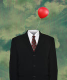 Surreal Empty Business Suit, Balloon Stock Image