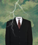 Surreal Empty Business Suit, Lightning Stock Images