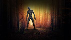 Surreal Evil Monster, Alien, Fantasy, Science Fiction stock photos