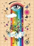 Surreal Eye Stock Image