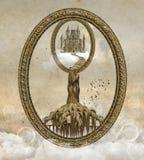 Surreal fantasy landscape royalty free illustration