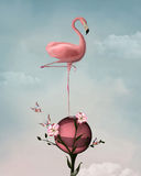 Surreal flamingo stock illustratie