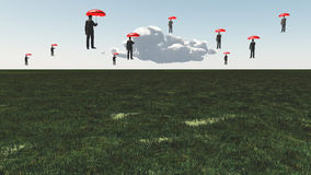 Surreal Floating Men Stock Image