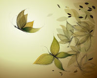Surreal floral sketch Royalty Free Stock Images