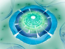 Surreal futuristic digital 3d design art abstract background fractal illustration for meditation and decoration wallpaper. Take a look in the nice infinity of royalty free illustration