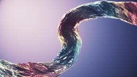 Surreal gebogen kolom van het water Gietende water de digitale achtergrond van de simulatieillustratie ge?soleerde gradi?nt nieuw royalty-vrije illustratie