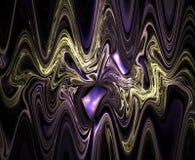 Surreal golvende fractal Stock Foto