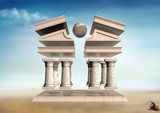 Surreal Greek Temple Royalty Free Stock Images