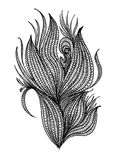 Surreal hand drawing, decorative artwork Royalty Free Stock Photos