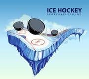 Surreal hockeypiste Royalty-vrije Stock Foto