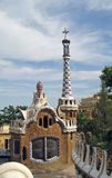 Surreal house in Barcelona Stock Images