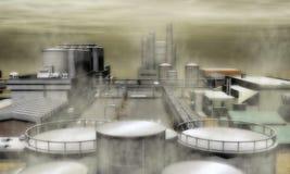 Surreal Industriezone Royalty-vrije Stock Foto's