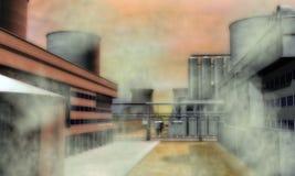 Surreal Industriezone Royalty-vrije Stock Afbeelding