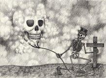 Surreal kunstschedel royalty-vrije illustratie