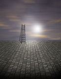 Surreal Ladder Scene Royalty Free Stock Photo