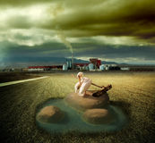 Surreal landscape Stock Photo