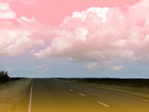 Surreal landscape. Showing road in North Yorkshire Moors Royalty Free Stock Image