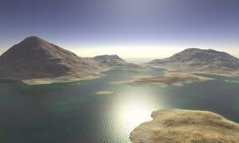Surreal Landscape. Digital Illustration of a surreal Landscape Stock Images