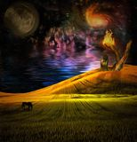 Surreal Landscape Royalty Free Stock Photography